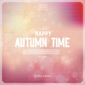 Autumntime retro background — Stock Vector