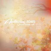 Autumn time vintage background — Stock Vector