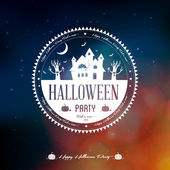 Happy Halloween Label — Stock Vector