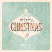 Vintage Christmas Card — Stock Vector
