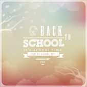 Back to School Vintage Elements — Stock Vector