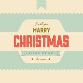 Vintage Christmas Label — Stock Vector