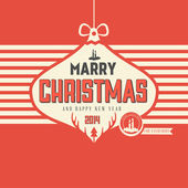 Retro styled Christmas Card — Stock Vector