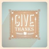 Vintage Thanksgiving Card — Stock Vector