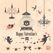 Decorative valentines day design elements — Stock Photo