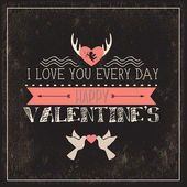 Happy valentines day cards with hearts, ribbon, angel and arrow — Stock Photo