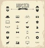 Hipster icon set — Stock Photo