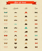 Hipster style elements — Stock Photo