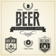 Beer emblems and labels — Stock Vector