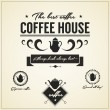 Coffee house Labels and Icons — Stock Vector