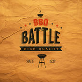 BBQ battle label — Stock Vector