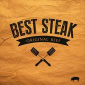 Best Steak  label — Stock Vector