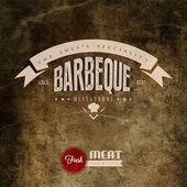 BBQ Grill restaurant label — Stock Vector