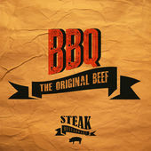 BBQ label — Stockvektor