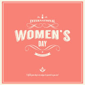 Woman's day-March 8th — Vettoriale Stock