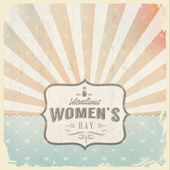 Woman's day  with  vintage  background — Stock Vector