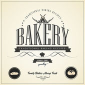 Vintage bakery labels — Stock Vector