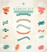 Retro ribbons set — Stock Vector