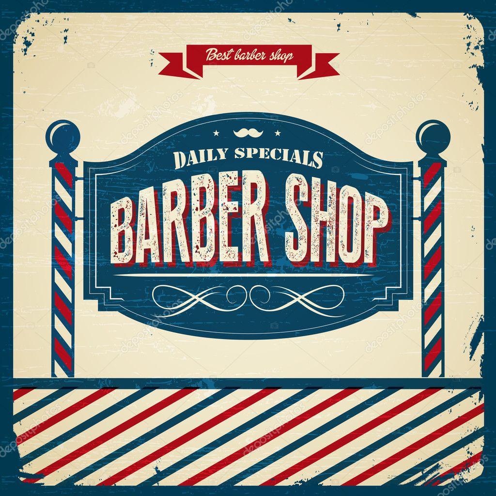 Barber Shop Plano : Barbearia retr? ? Vetor de Stock ? snowflakedesign #41585975