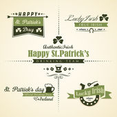 Vector set of Saint Patricks Day ornaments and decorative elemen — Stock Vector