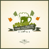 Typographic Saint Patrick's Day Design — 图库矢量图片