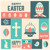 Easter Icon Set — Stock Vector