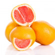 Stock Photo: Grapefruit isolated on white background