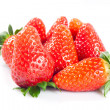 Stock Photo: Strawberries isolated on white background