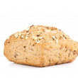 Bun bread isolated on white background — Stock Photo