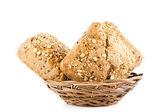 Bollo de pan aisladas sobre fondo blanco — Foto de Stock