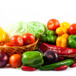 Different vegetables isolated on white background — Stock Photo #27958109