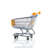 Shopping trollly isolated on white background — Stock Photo