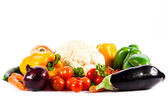Different vegetables isolated on white background — Stock Photo