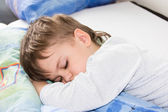 Sleeping boy son — Stock Photo