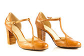 High heel women shoes on white background — Stock Photo