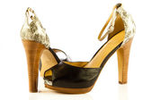 High heel women shoes on white background — 图库照片