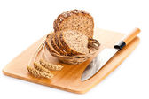 Brown seed biobread isolated on white background — Stock Photo