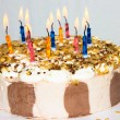 Birthday cake. candles — Stock Photo #37948713