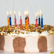 Birthday cake. candles — Stock Photo #38005815