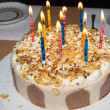 Birthday cake. candles — Stock Photo #38005847