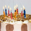 Birthday cake. candles — Stock Photo #38006961