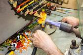 Handmade glass creative handwork glass figurines — Stock Photo