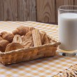 Royalty-Free Stock Photo: Cookies and milk