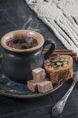 コーヒーとお菓子 — Stock fotografie