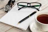 Anteckningsbok och penna — Stockfoto