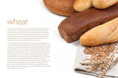 Wheat and bread — Stock Photo