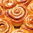 Appetizing cinnamon buns — Stock Photo