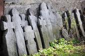 Gravestone crosses — Stock Photo