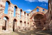 Ruins of Byzantine church in Nesebar — Stock Photo