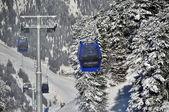 Ski lift in the Austrian Alps — Stock Photo